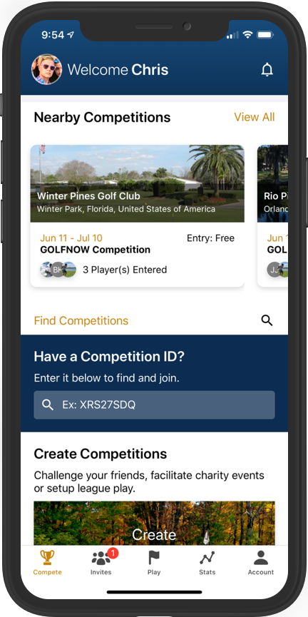 GolfNow Compete App
